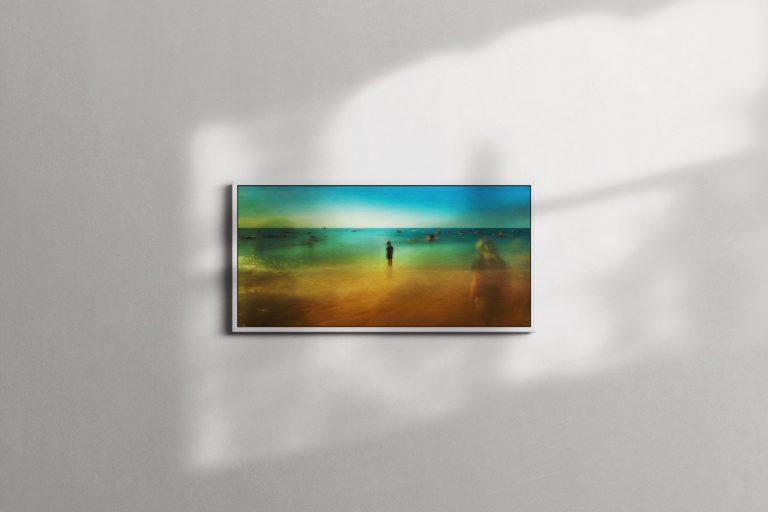 Aquae Sulis - Framed Canvas - White